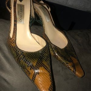 Jimmy Choo snake print shoes